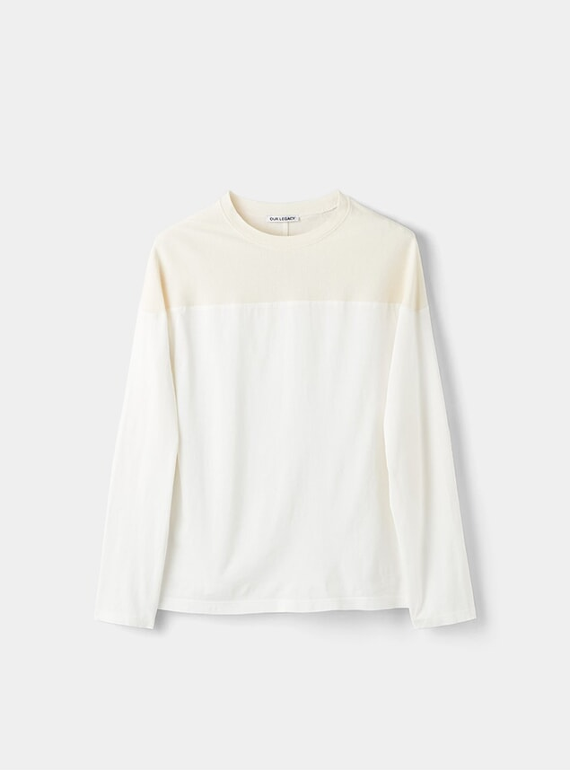 White / Nicotine Clean Jersey Moto Sweatshirt