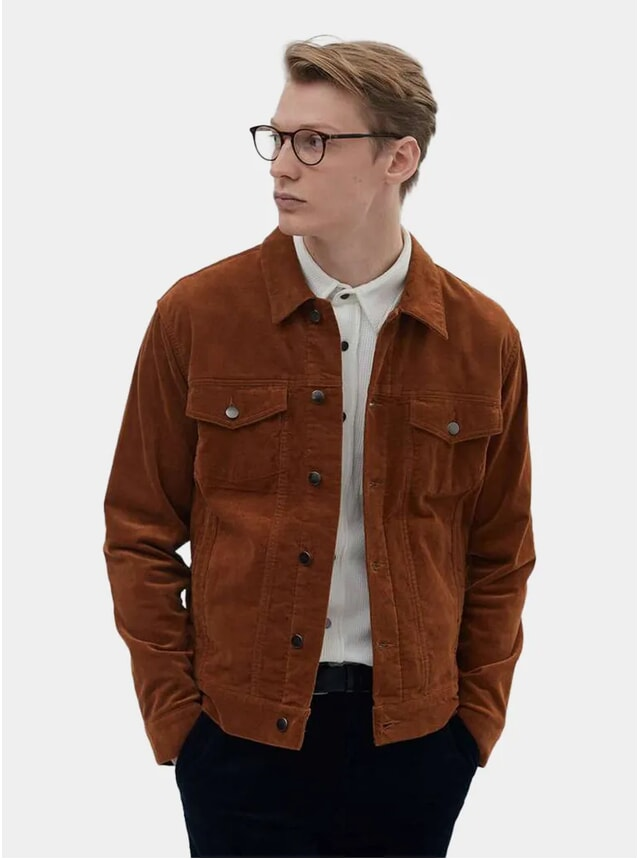 Bronze Cotton Suede Western Jacket