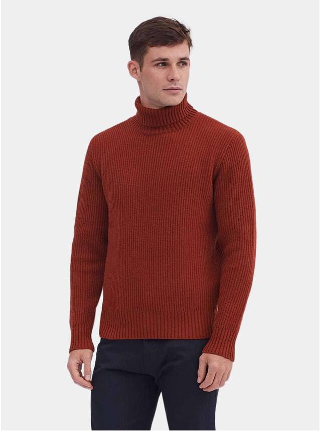 Cinnamon Wool Rib Crewneck