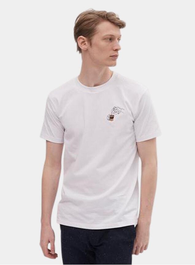 White Allpress x Percival Latte Art Pot T Shirt