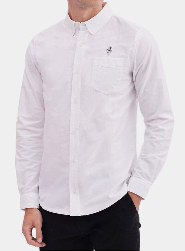 White Spaceman Oxford Shirt