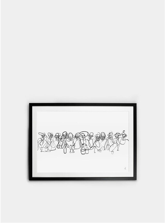 Framed Last Supper Print