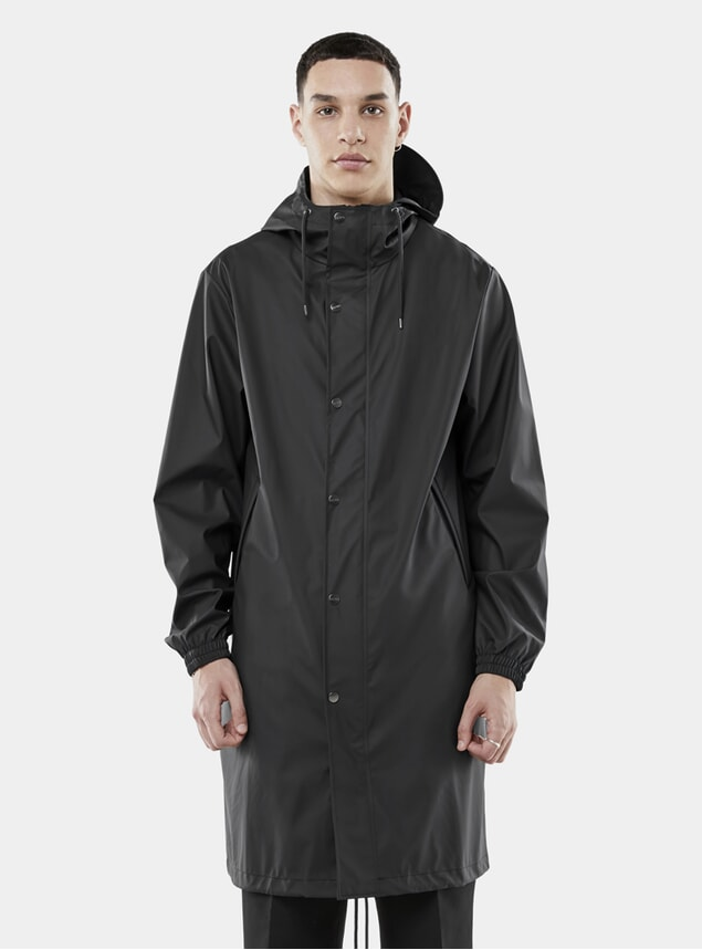 Black Fishtail Parka