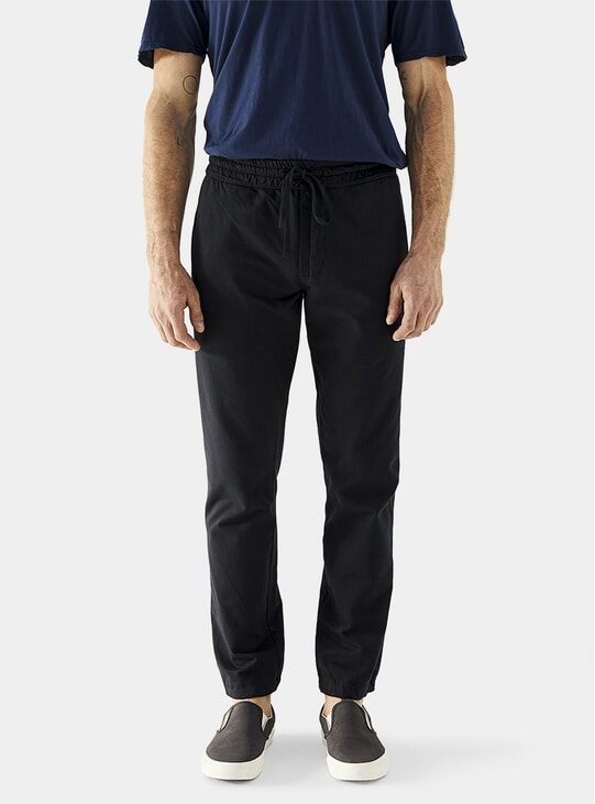 Deep Blue Cotton Fleece Sweatpants