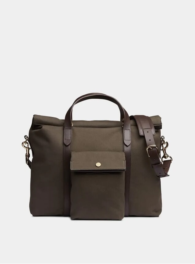 Army / Dark Brown M/S Soft Work Bag
