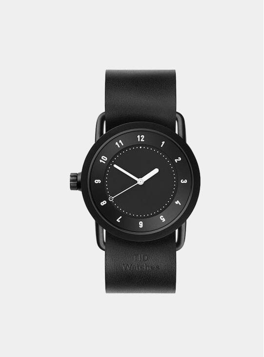 Black / Black Leather No.1 36mm Watch
