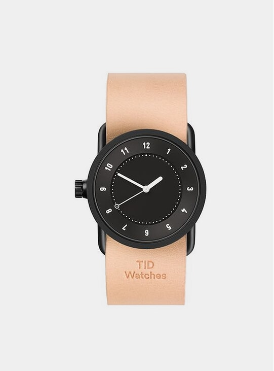 Black / Natural Leather No.1 36mm Watch