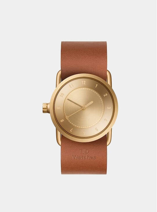 Gold / Tan Leather No.1 33m Watch