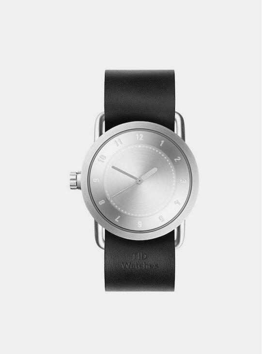 Steel / Black Leather No.1 36mm Watch