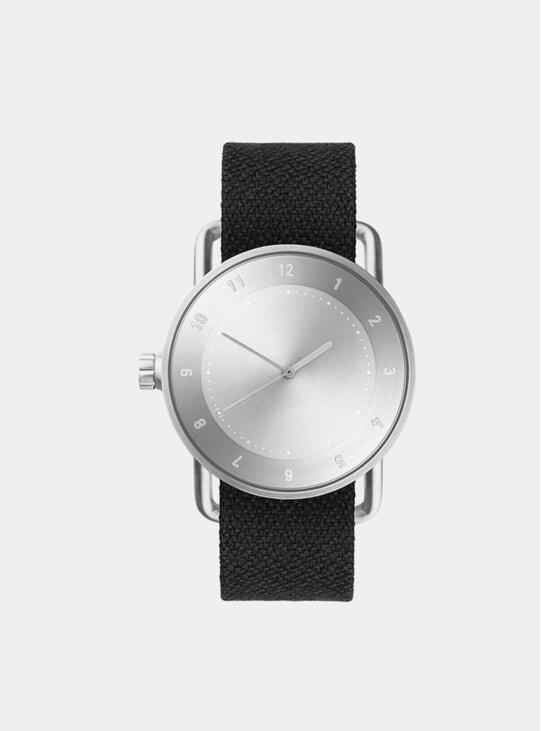 Steel / Coal Twain Wristband No.2 40mm Watch