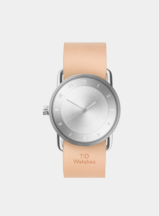 Steel / Natural Leather Wristband No.2 36mm Watch