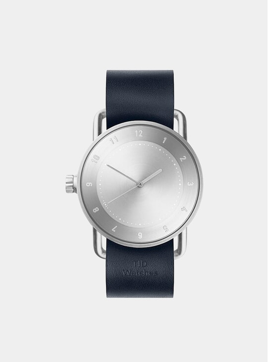 Steel / Navy Leather No.2 40mm Watch