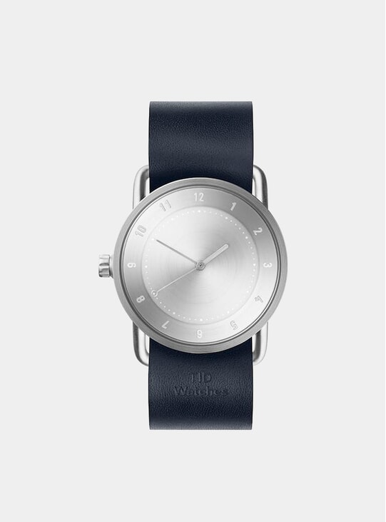 Steel / Navy Leather Wristband No.2 36mm Watch