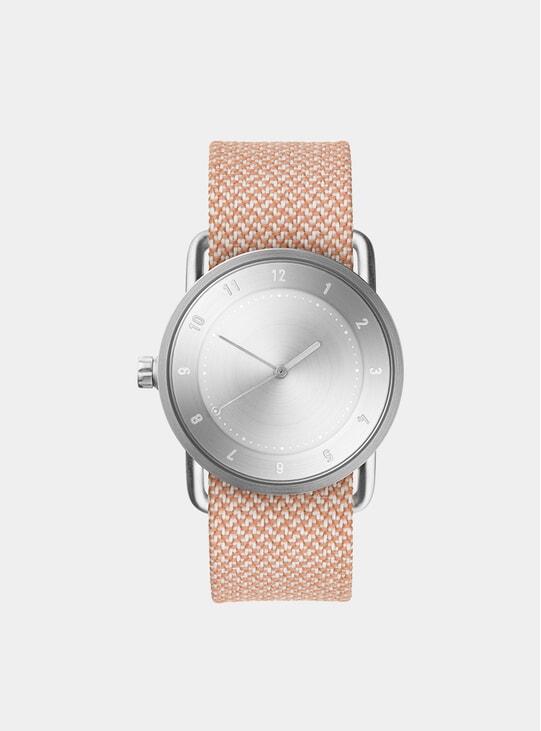 Steel / Salmon Twain No.2 36mm Watch