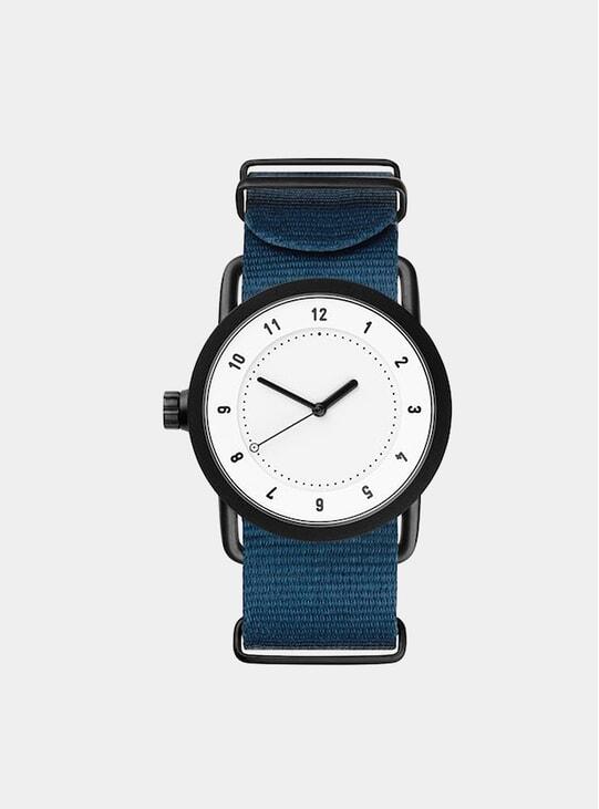 White / Blue Nylon No.1 36mm Watch