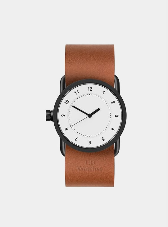 White / Tan Leather No.1 33mm Watch