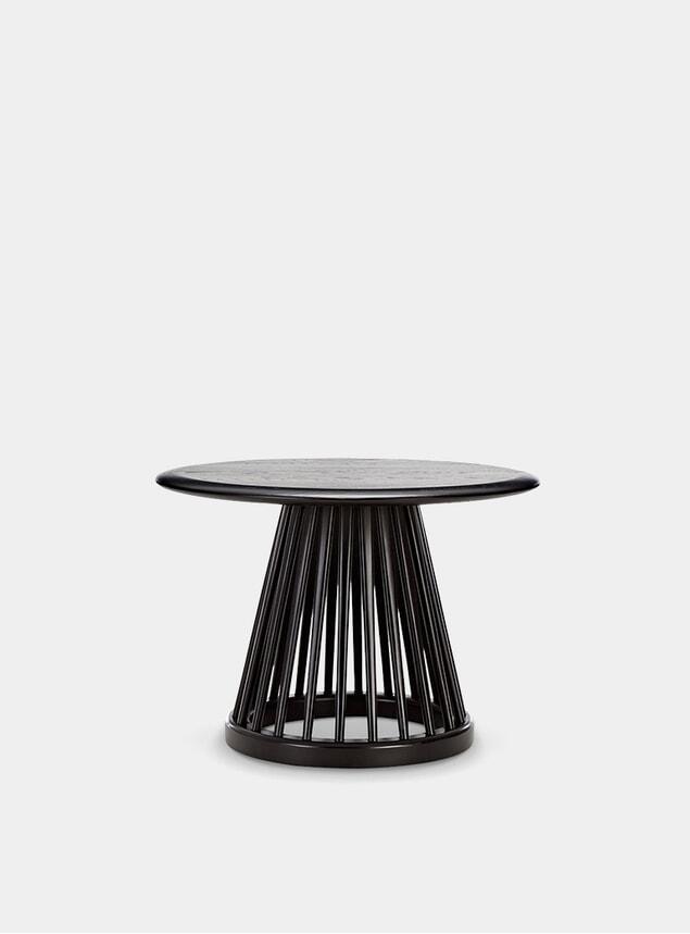 Black Oak Fan Table