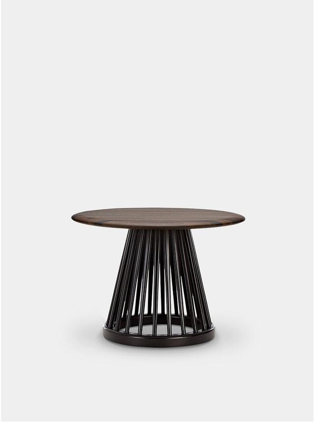 Fumed Oak / Black Oak Fan Table