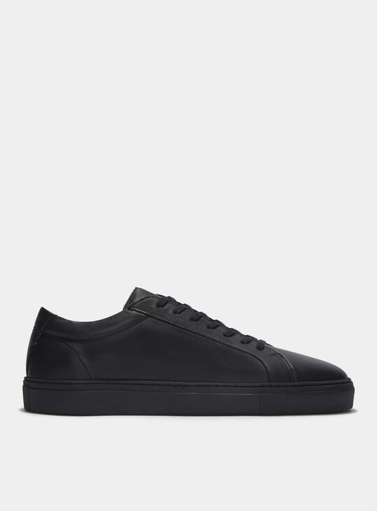 Triple Black Leather Series 1 Sneakers