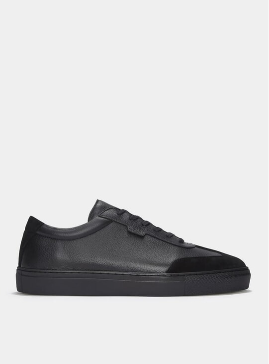 Triple Black Leather Series 3 Sneakers