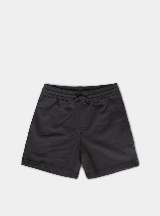 Black Fresh Terry Shorts