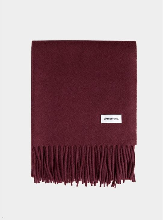 Burgundy Wool Scarf