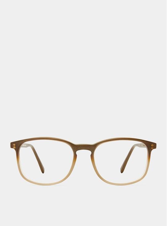 Ash Brown Matt Polished Glasses