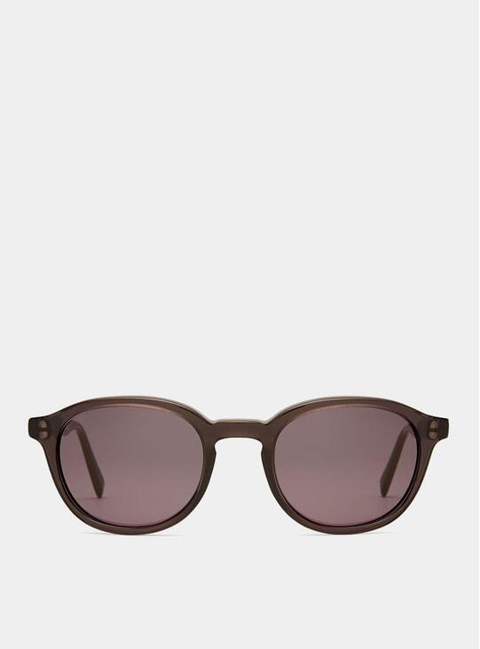 Black Transparent Shiny Sunglasses