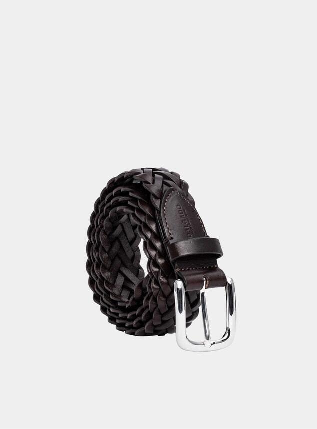Brown Hand-Braided Leonardo Leather Belt