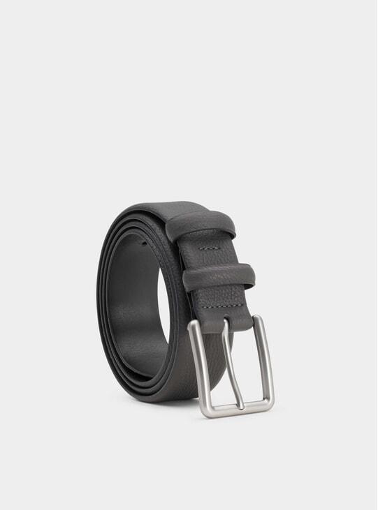 Grey Javier Leather Belt