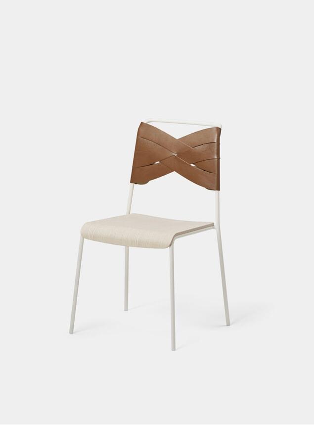 Ash / Cognac Torso Dining Chair