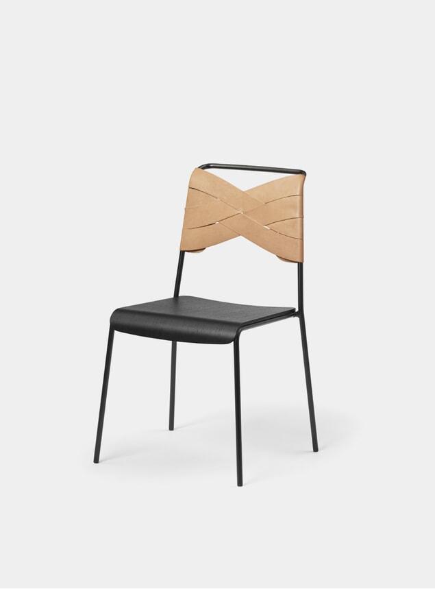 Black / Natural Torso Dining Chair