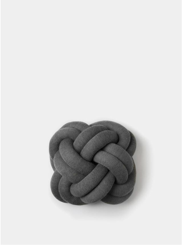 Grey Knot Cushion