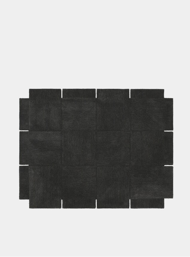Medium Dark Grey Basket Rug