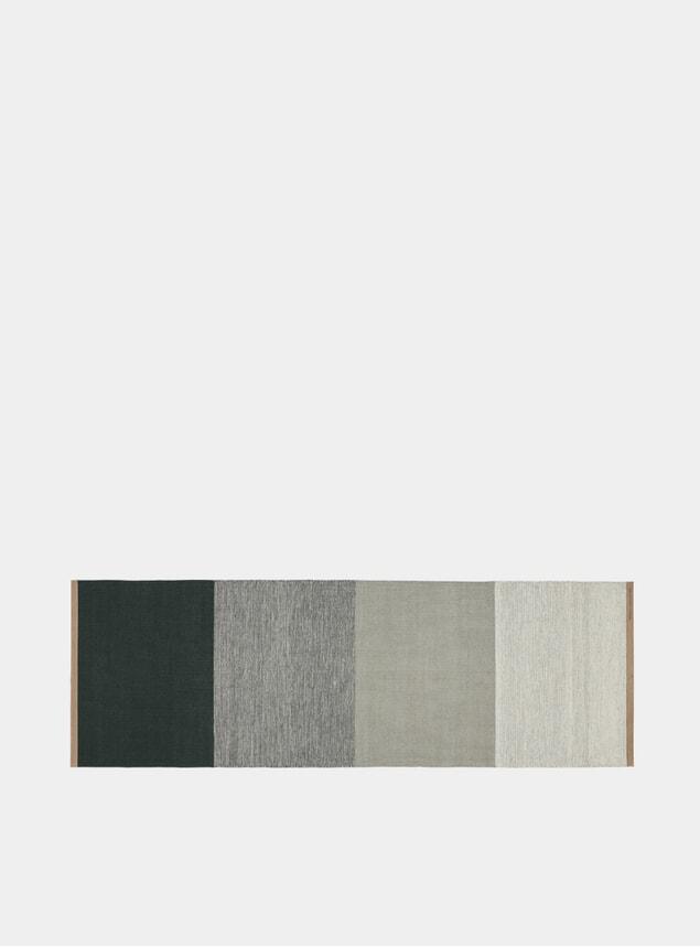 Medium Green / Grey Fields Rug