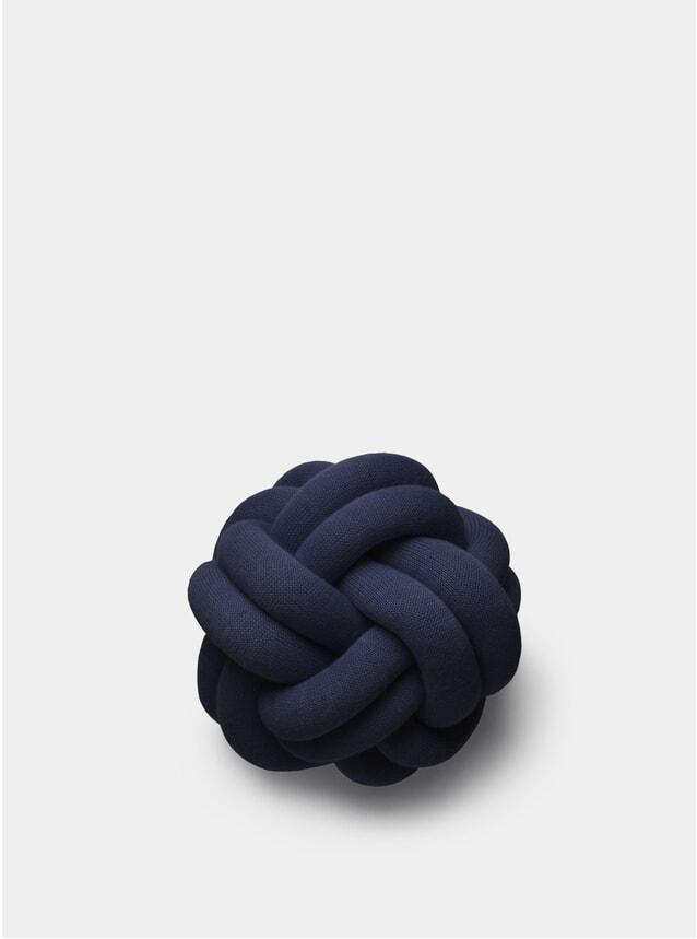 Navy Knot Cushion
