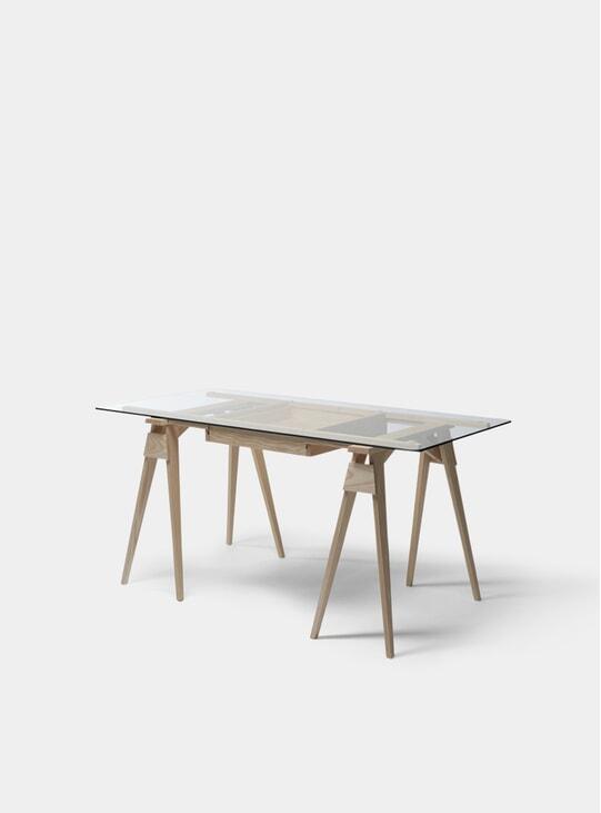 Oak Arco Desk