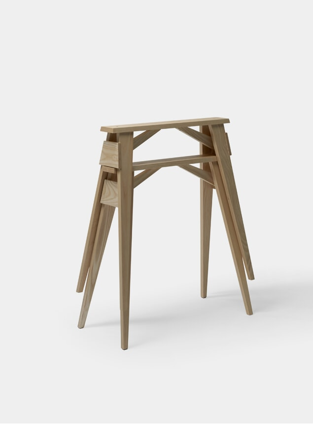 Oak Arco Desk Trestles Set of 2