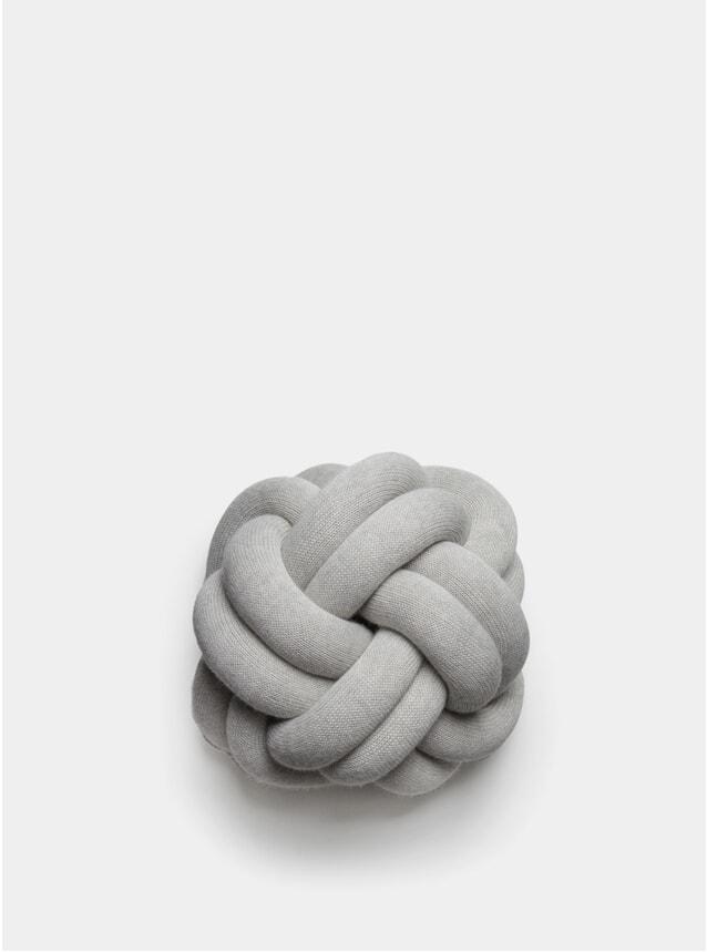 White Grey Knot Cushion
