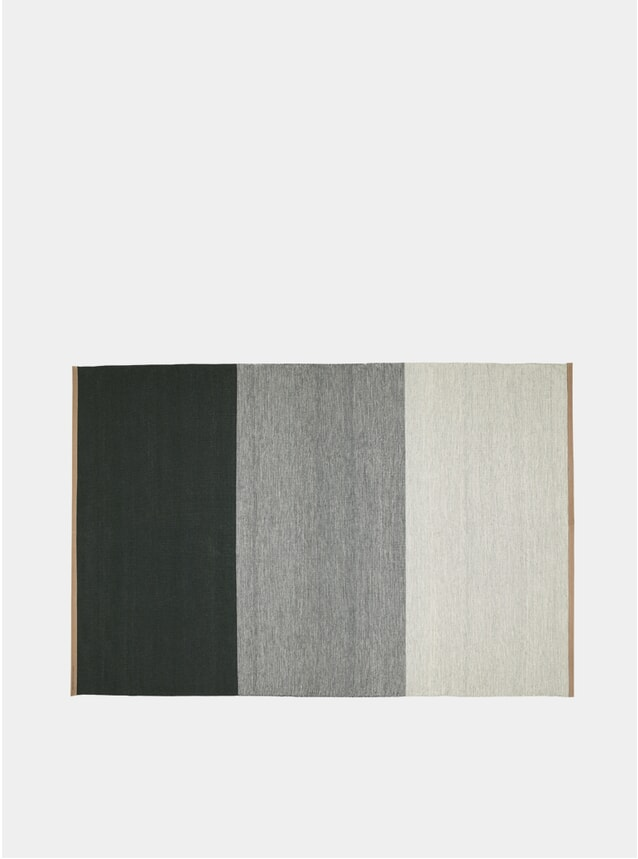 X-Large Green / Grey Fields Rug