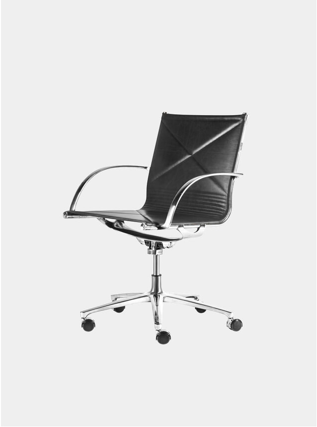 Black Extreme Leather  Joint 1211 Chair