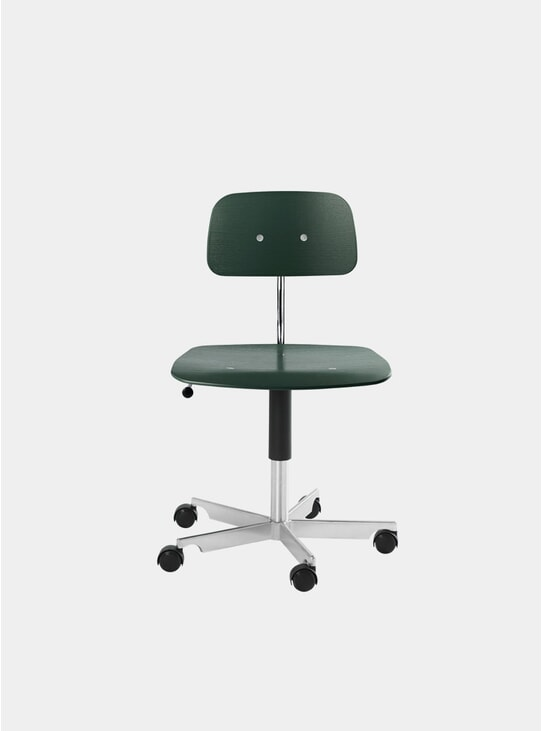 Bottle Green Kevi 2533 Swivel Chair