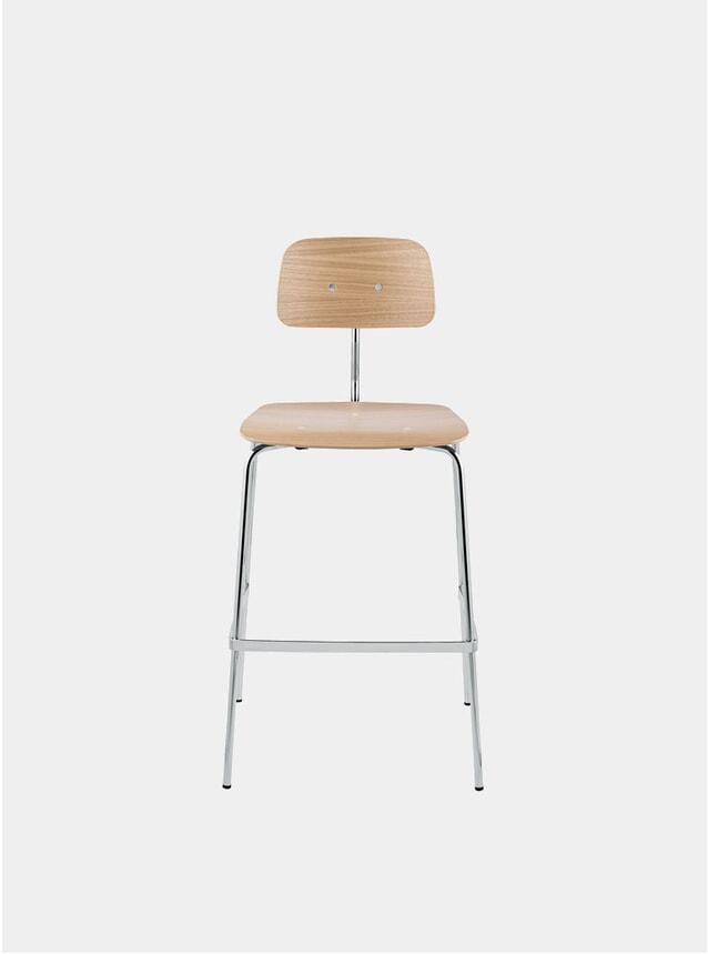 Oak / Chrome Kevi 2062 Barstool