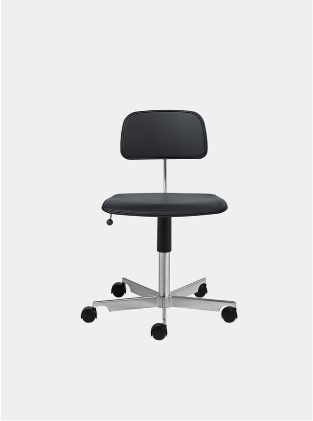 Ultra Black Leather Kevi 2533 Swivel Chair