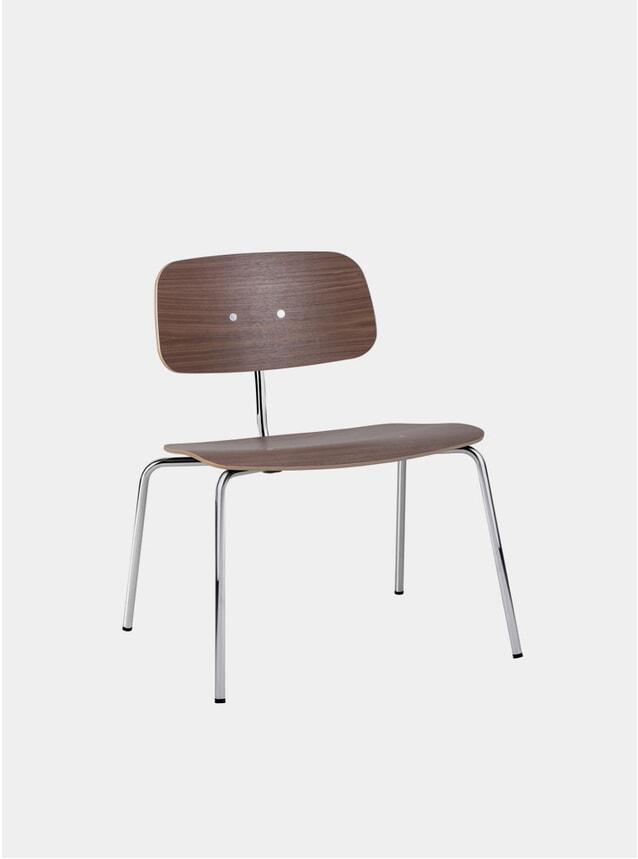 Walnut / Polished Chrome Kevi 2063 Lounge Chair