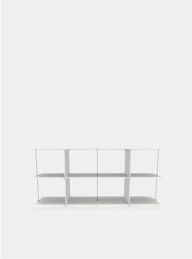 White Poise 2 x 2 Shelving System