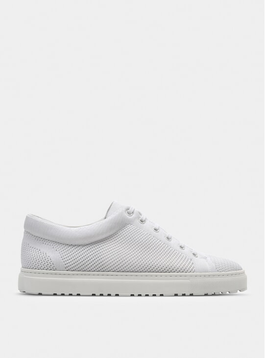 White Low 1 Knitted Mist Sneaker