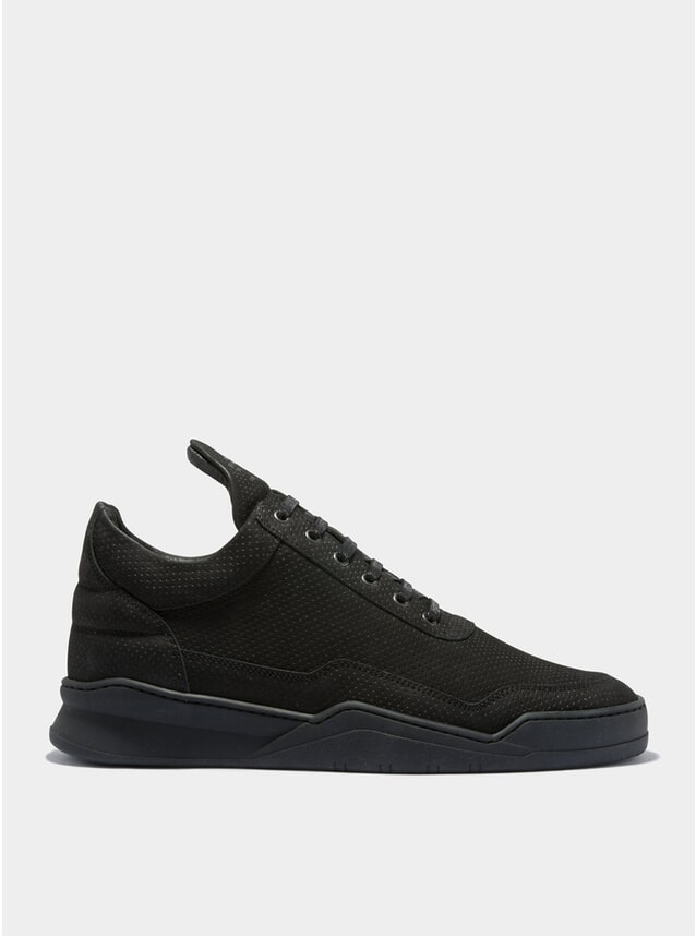 All Black Low Top Microlane Sneakers