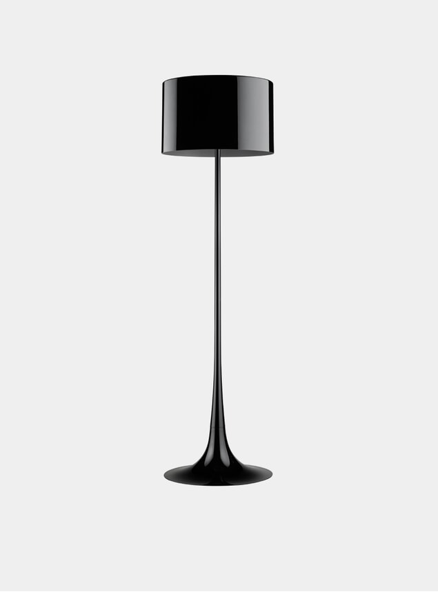 Black Spun Floor Lamp