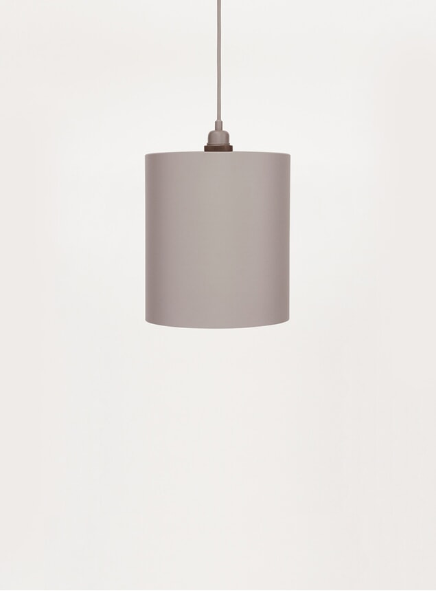 Medium Grey Cylinder Pendant